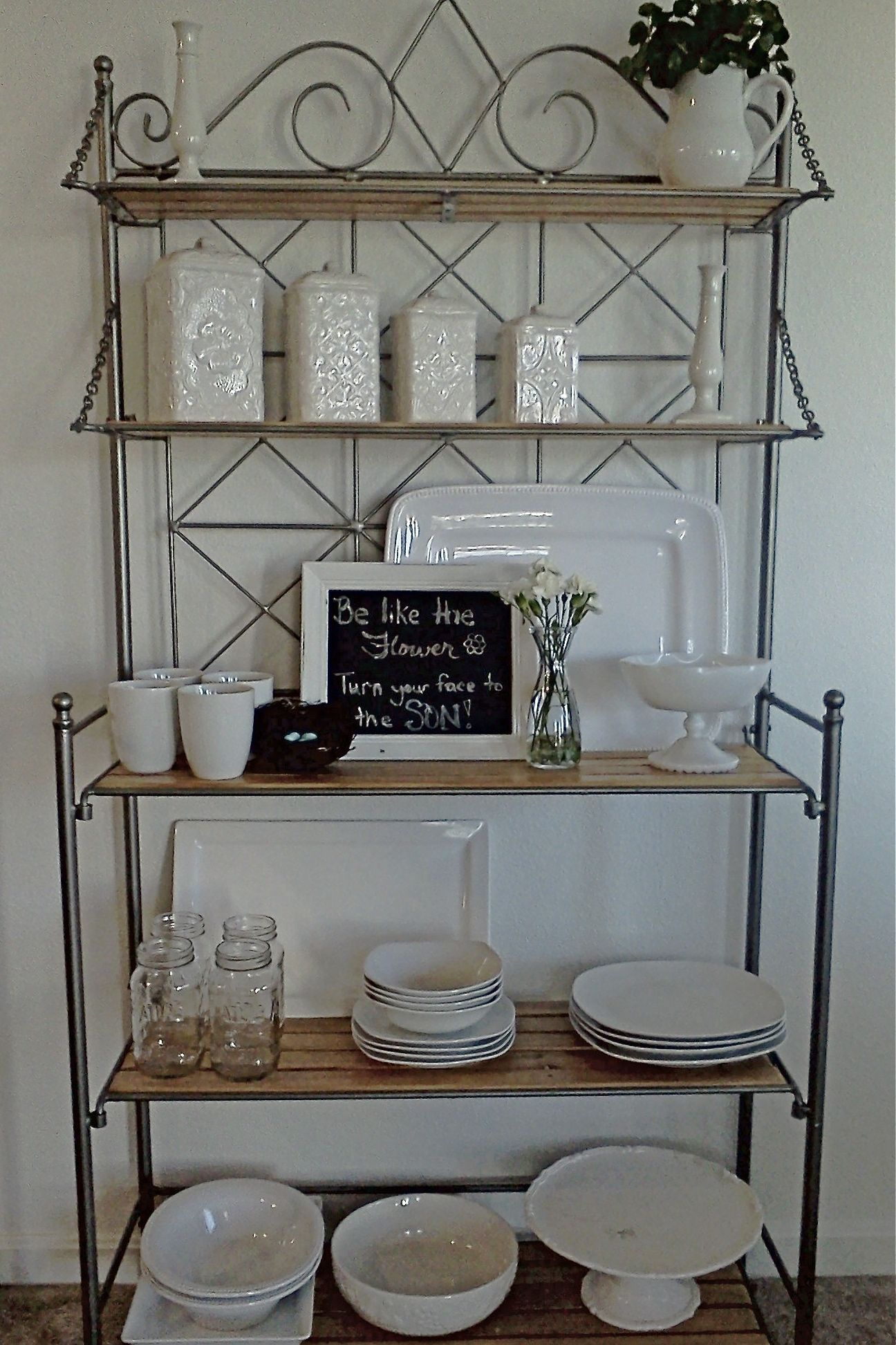 Switched My Baker S Rack Over To All White Decor Had Most