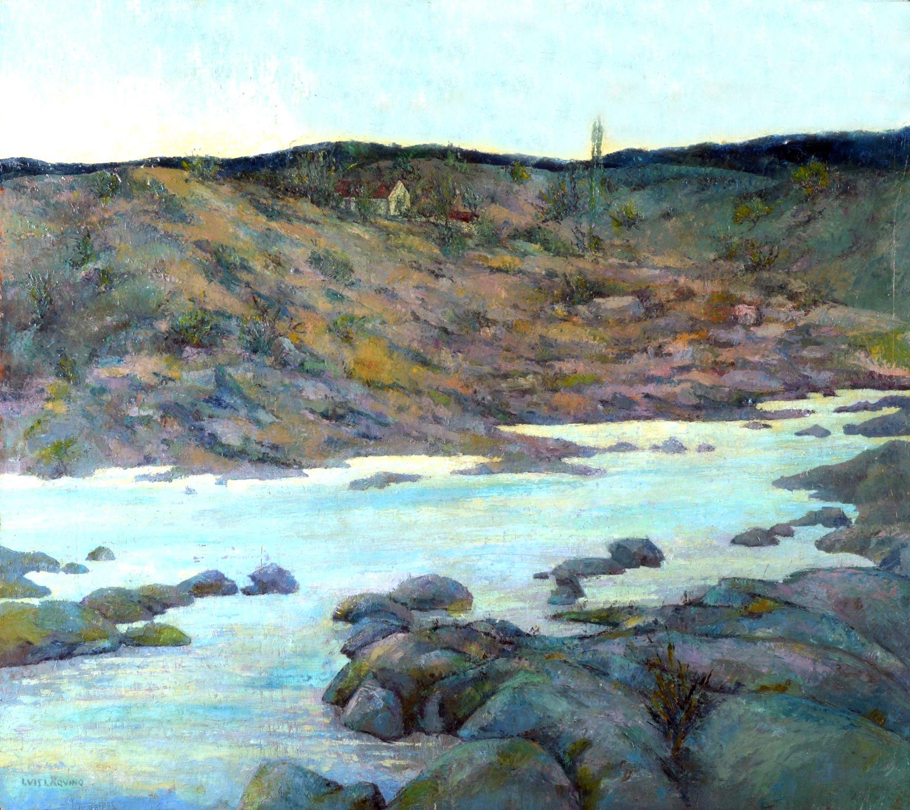 Paisaje de Cordoba. Oleo sobre tabla. 80x90cm. 1948c. http://www.zurbaran.com.ar/luis-aquino/