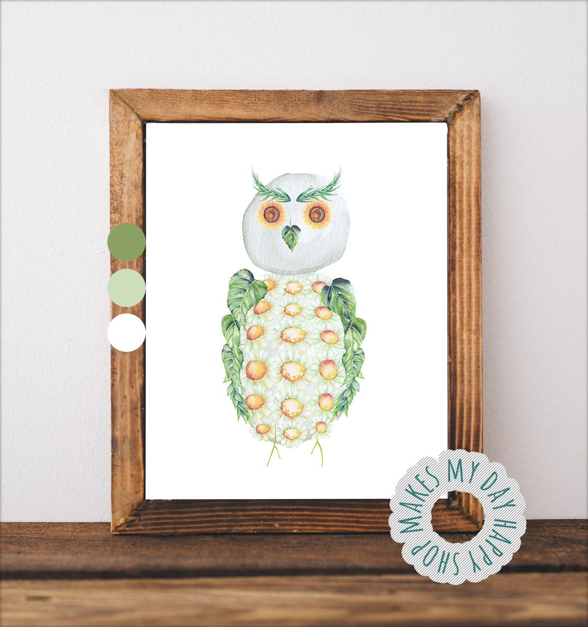 Cute Owl Decor Owl Nursery Baby Room Decor Cute Owl Sunflower Nursery Nursery