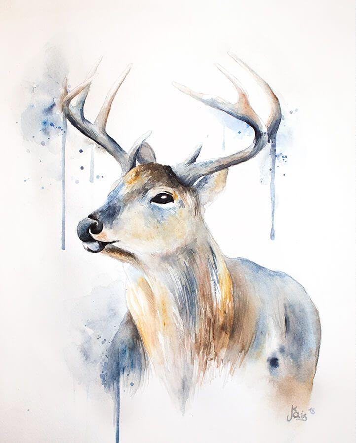 Idee Von Iska Auf Zeichnungen Aquarell Tiere Aquarell Malen
