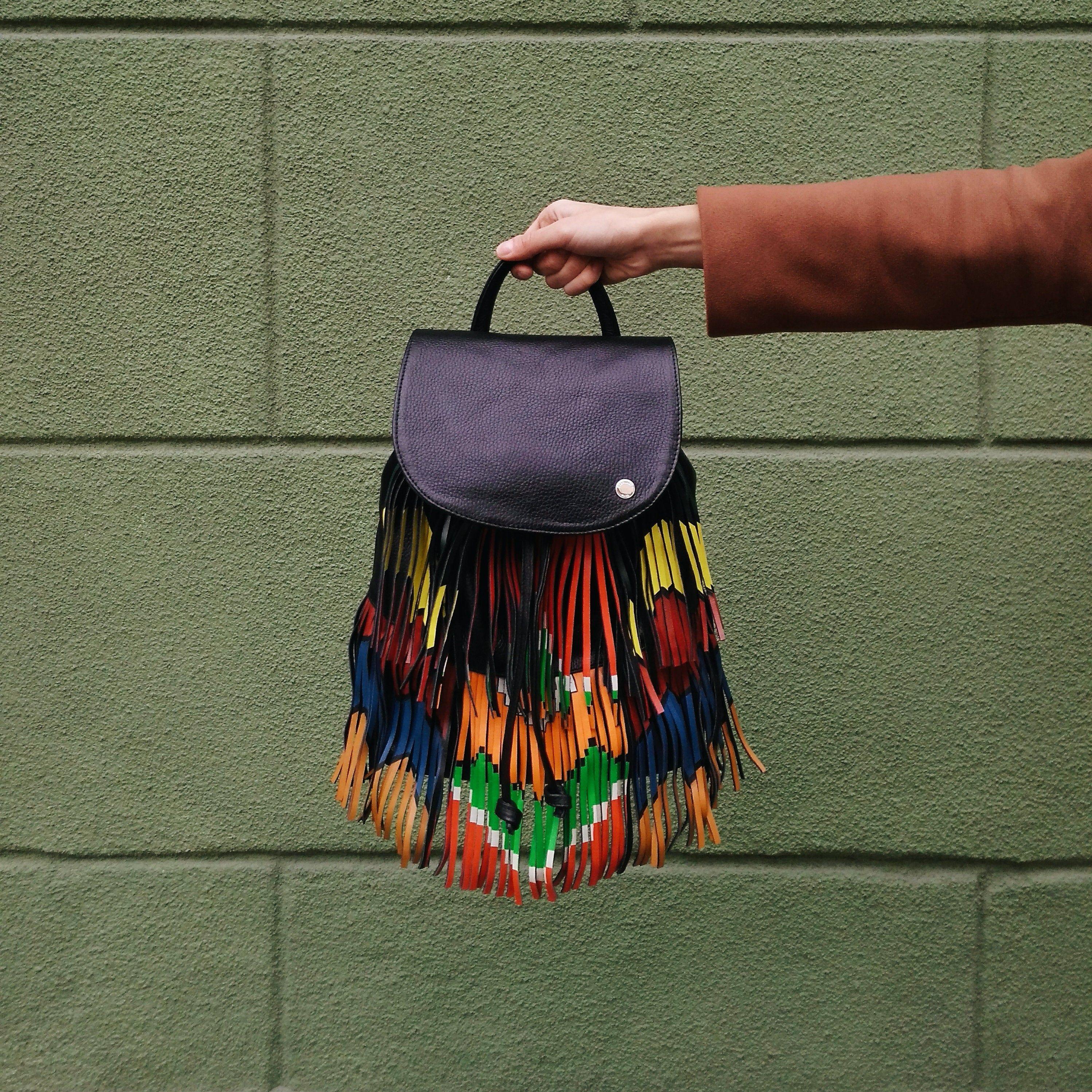 Photo of BLACK FRINGE BAG – Backpack with Fringe – Genuine Leather Bag – Fringe Back pack – Teenage Girl Gifts – Boho Fringe Bag