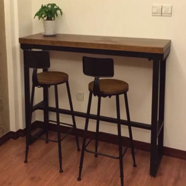 Industrial Style Bar Counter Table Furniture Tables Chairs On Carousell Kitchen Bar Counter Small Dining