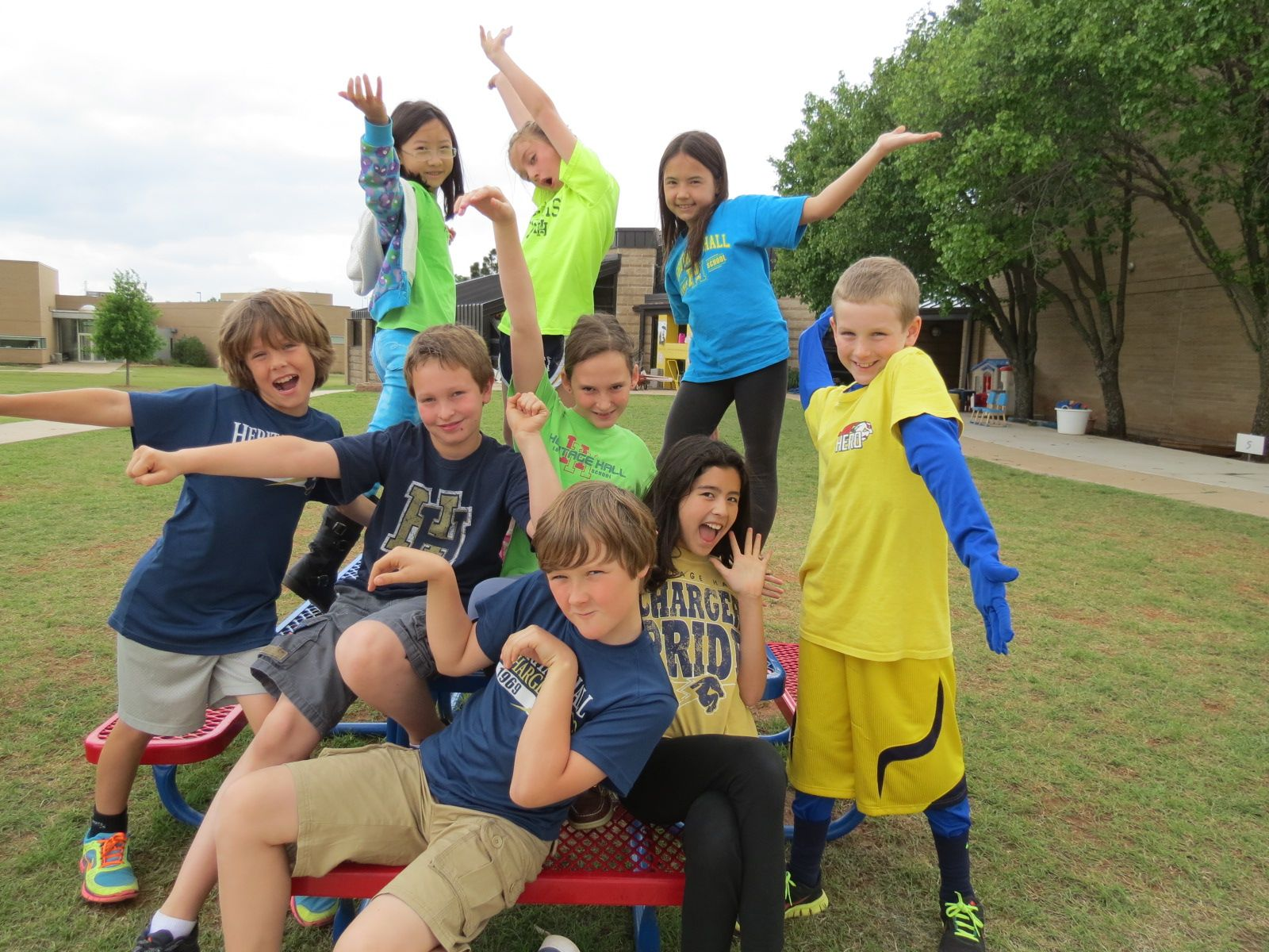 Fourth graders striking a pose!
