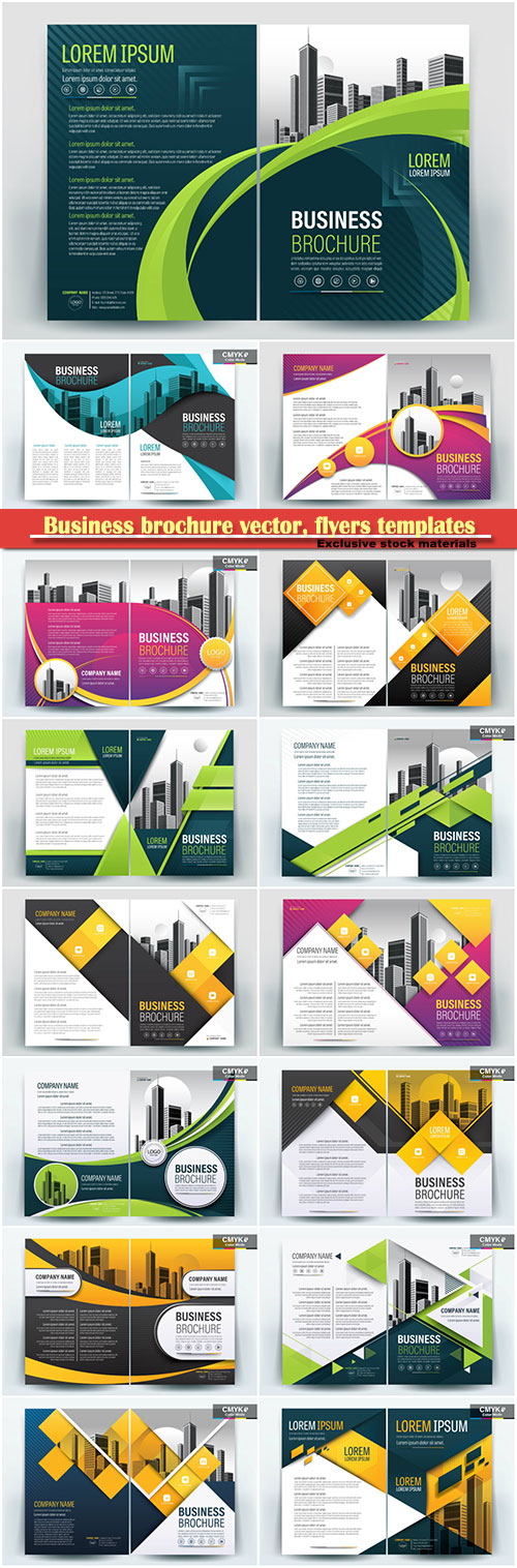 Download Business brochure vector flyers templates 74 Free - business pamphlet templates free