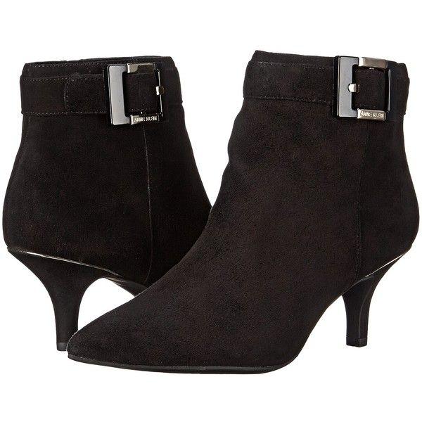Womens Boots Anne Klein Fabienne Black/Black Suede