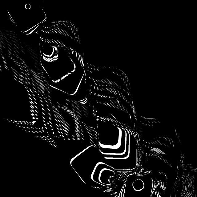 from the http://praystation.tumblr.com/ collection of black and white 30 second generative videos / using the http://hypeframework.org/