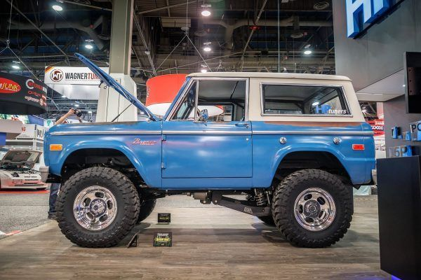 1969 Ford Bronco With A Twin Turbo 4 2 L Ecoboost V6 In 2020 Ford Bronco Bronco Lifted Ford Trucks