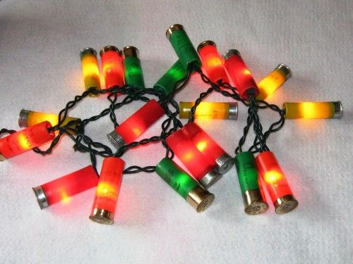 Genuine Recycled Shotgun Shell Xmas Lights - String of 20 Lights CalicoCat - Seasonal on ...