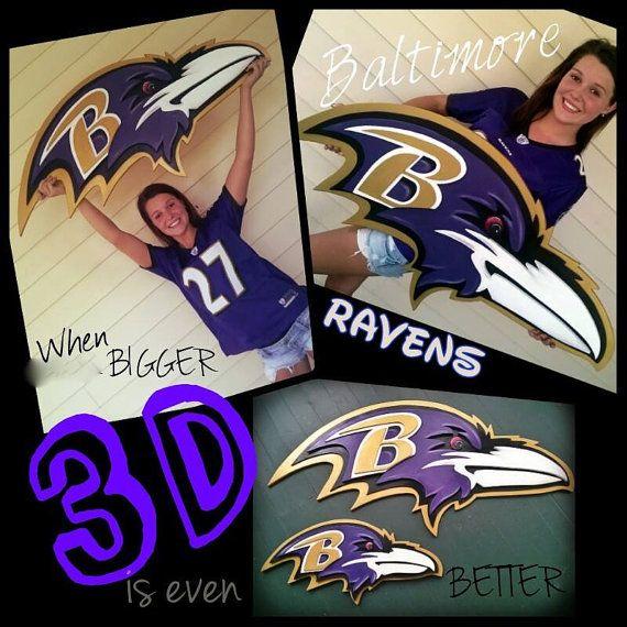 Huge Almost 4ft Custom 3d Baltimore Ravens Football Sign