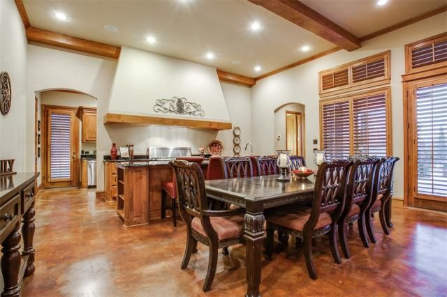 This house boasts a prep kitchen & show kitchen with formal dining