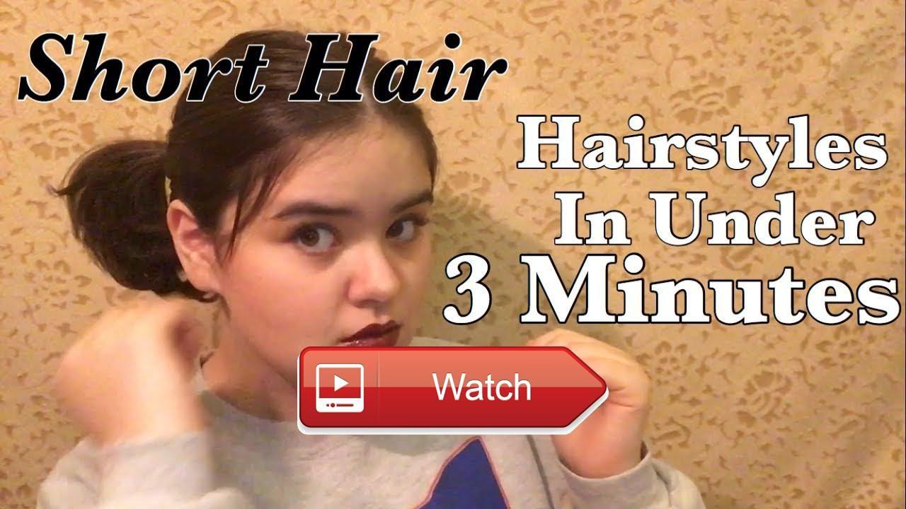 easy hairstyles for short hair tutorial allisonavein easy