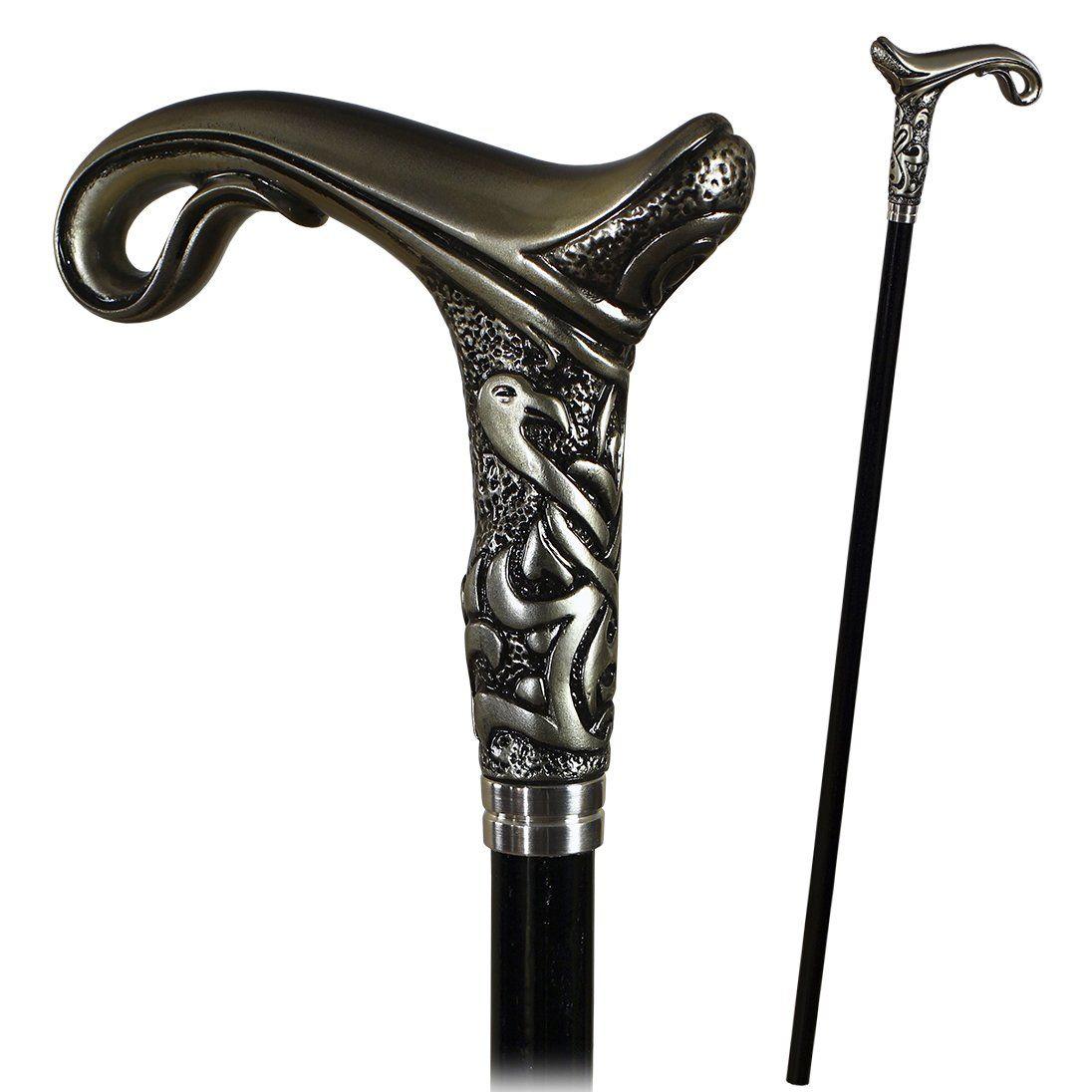 Designers Handmade Walking Cane Stick Magic#2 Light Bone Color Art Stone Handle