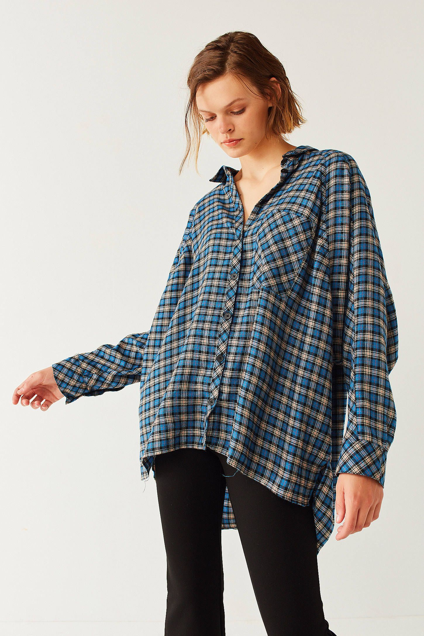 72a6a0a2 Shop BDG Brendan Cozy Flannel Button-Down Shirt at Urban Outfitters today.  We carry all the latest styles, colors and brands for you to choose from  right ...