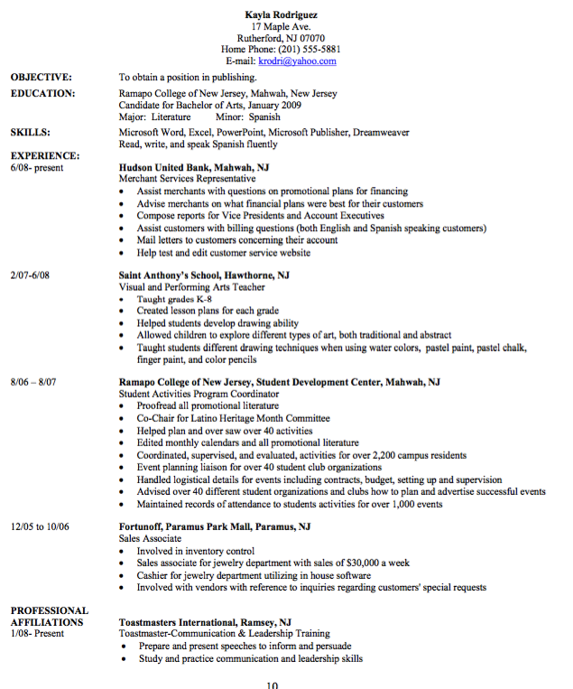 Example Of Desktop Publishing Resume  HttpResumesdesignCom