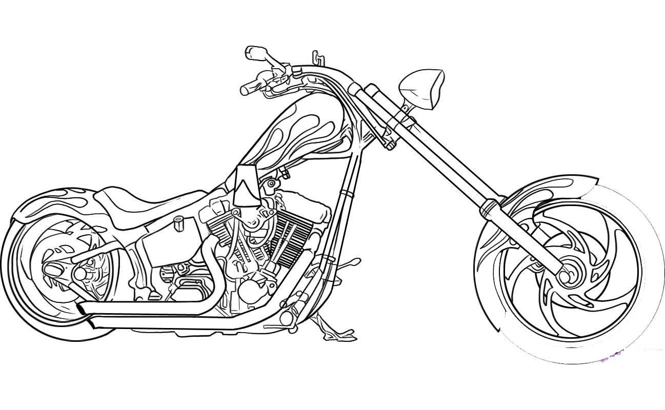 Printable Motorcycle Coloring Pages For Preschoolers Motorcycle Drawing Chopper Motorcycle Motorbike Drawing