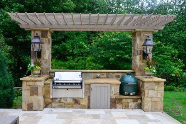 Outdoor Küche Holzofen : Pin von lauren quam auf landscaping pinterest grillstation