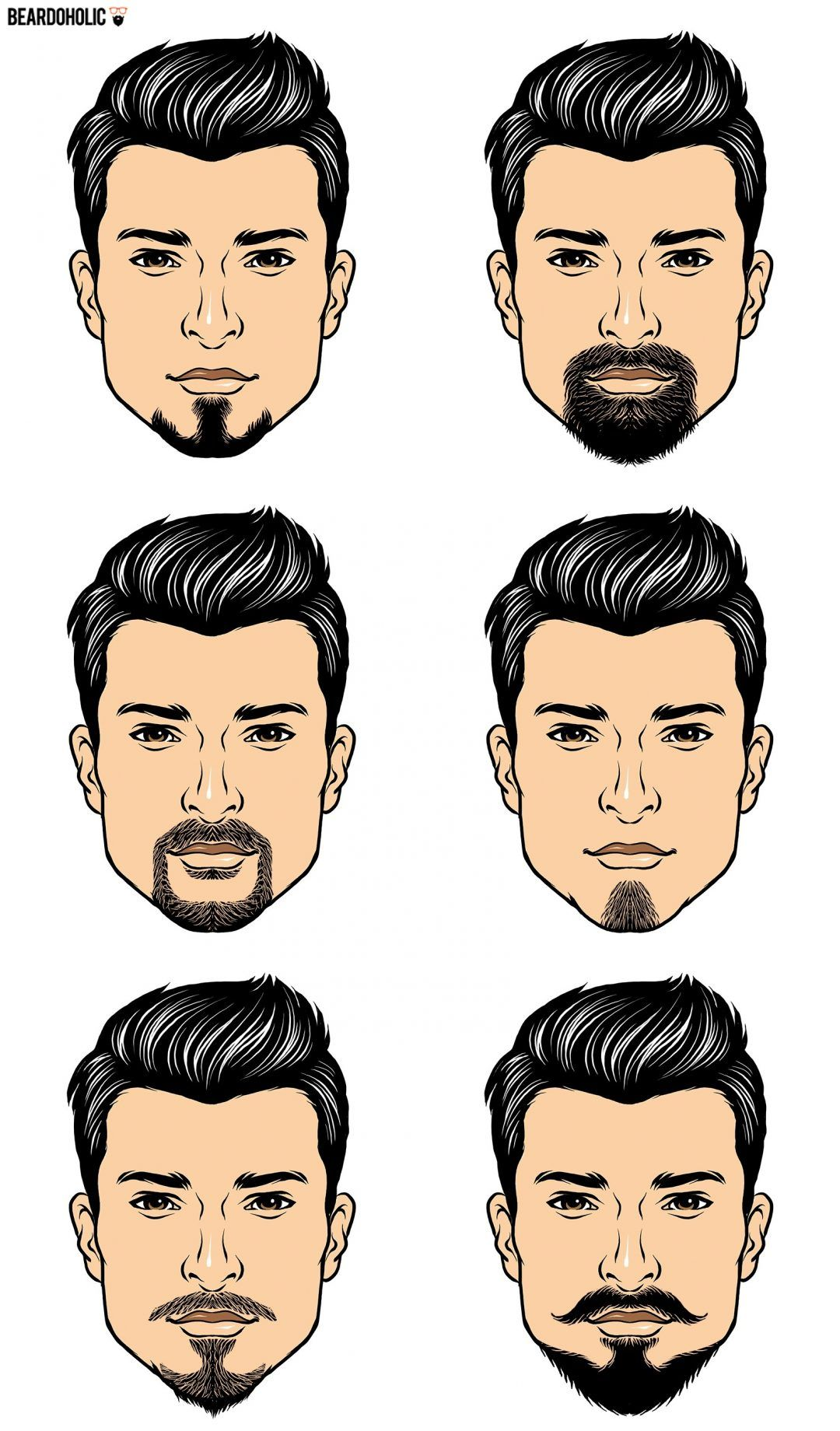 6 famous goatee styles