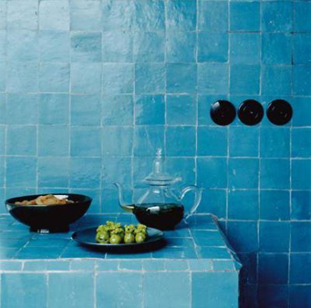 Arabische blauwe tegels - Bath | Pinterest - Blauwe tegels, Tegels ...