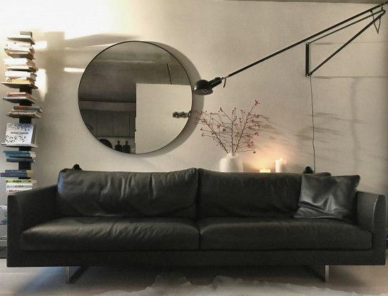 Hamburg Designermöbel dreisitzer axel in schwarzem leder designermöbel hamburg sofa