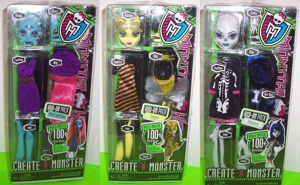 Monster High-Pretty: Monster High Packs de Crea tu monstrio