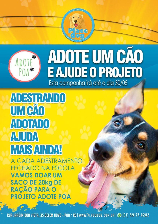 E aí Galera?!?!?!?😃😃 Estamos lançando hoje uma campanha em parceria ao projeto Adote Poa!!🐶😍 Estamos incentivando à adoção de cães para que possamos ajudar mais a combater o abandono de cães! Quem adotar um cão terá o nosso serviço de adestramento com valor reduzido, e não acaba por aí.. A cada adestramento realizado com esta campanha, será repassado 25% do valor para o projeto! Não é demais?😍🐶😍 Então vamos lá!!! Compartilhe aí a nossa idéia! #portoalegre #fiqueemcasa #emcasacommeucao #ad