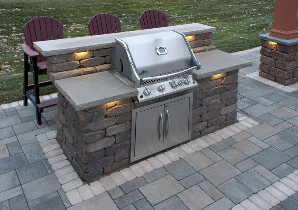Patio Paving Stones Outdoor Stone Grill