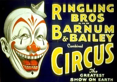 Ringling Bros And Vintage Barnum Baily Circus Poster