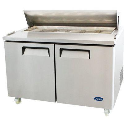 Atosa 60 Refrigerated Prep Table Steel Restaurant Refrigerator