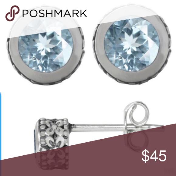 925 Sterling Silver Rhodium-plated Crystal /& Black Enamel Cross Hinged Reversible Earrings