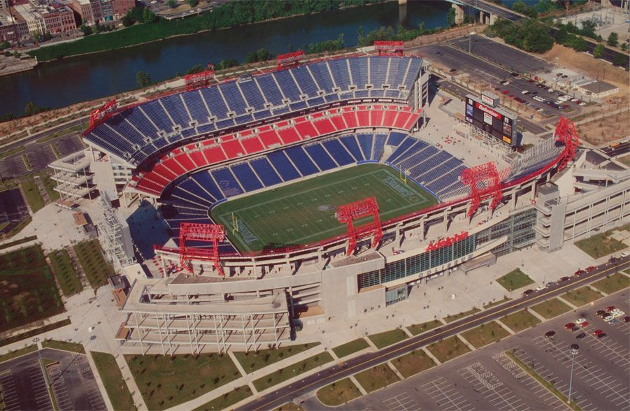 Nashville S Nissan Stadium Home Of The Tennessee Titans Nfl Stadiums Nissan Stadium Football Stadiums