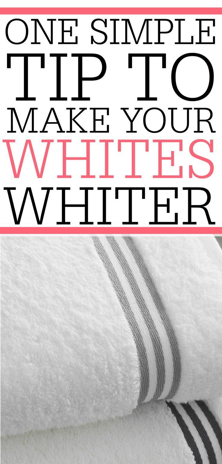 One Simple Trick To Get Whites Whiter   Dingy whites, Washing ...