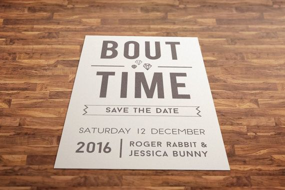 Save the Date Card Itu0027s About Time Card Save the by SprinkleLust - time card