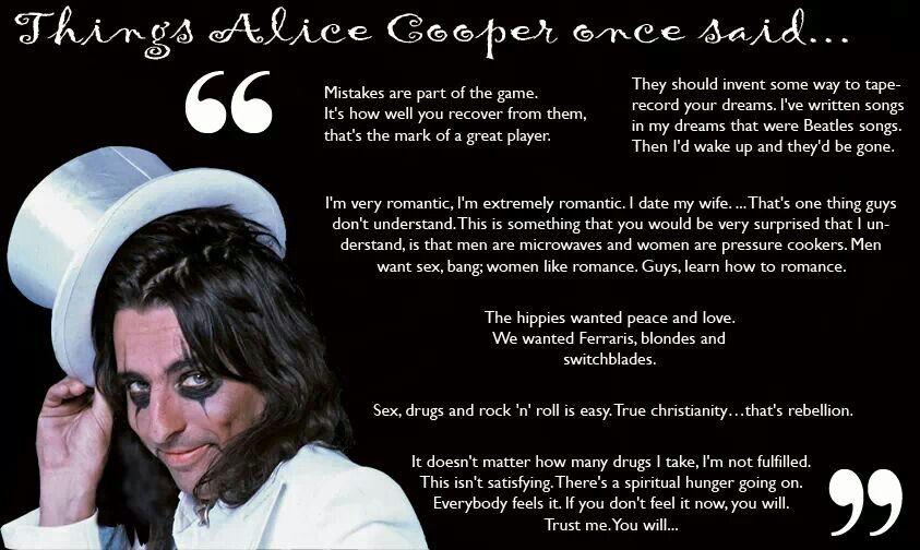 Alice Cooper Quotes Beatles Songs Shock Rock
