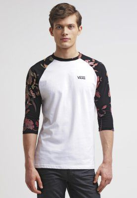 Vans Print T-shirt - white/death bloom - Zalando.co.uk