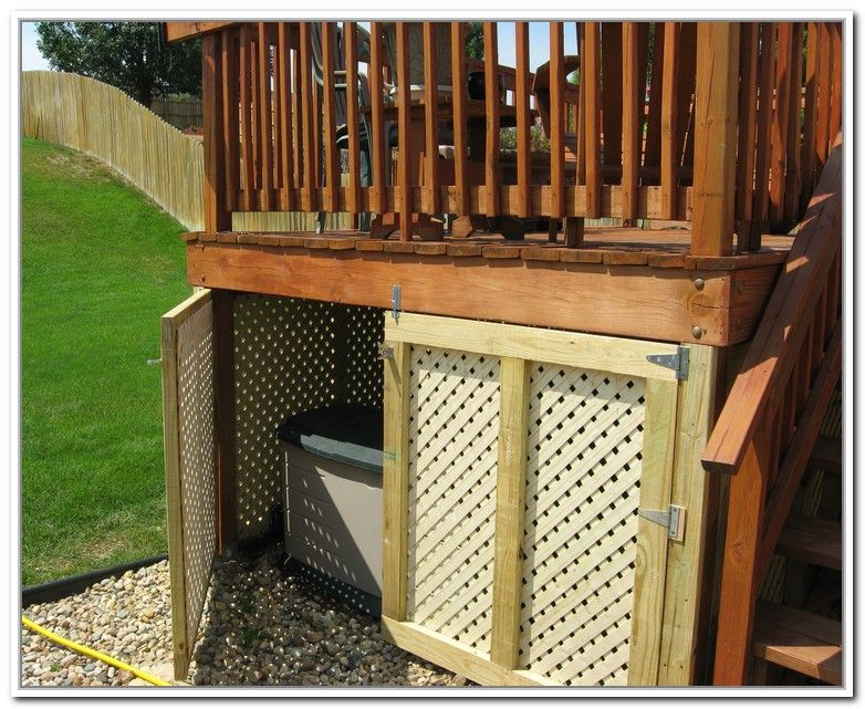 Under Deck Storage Box Yard Design In 2018 Pinterest Deck