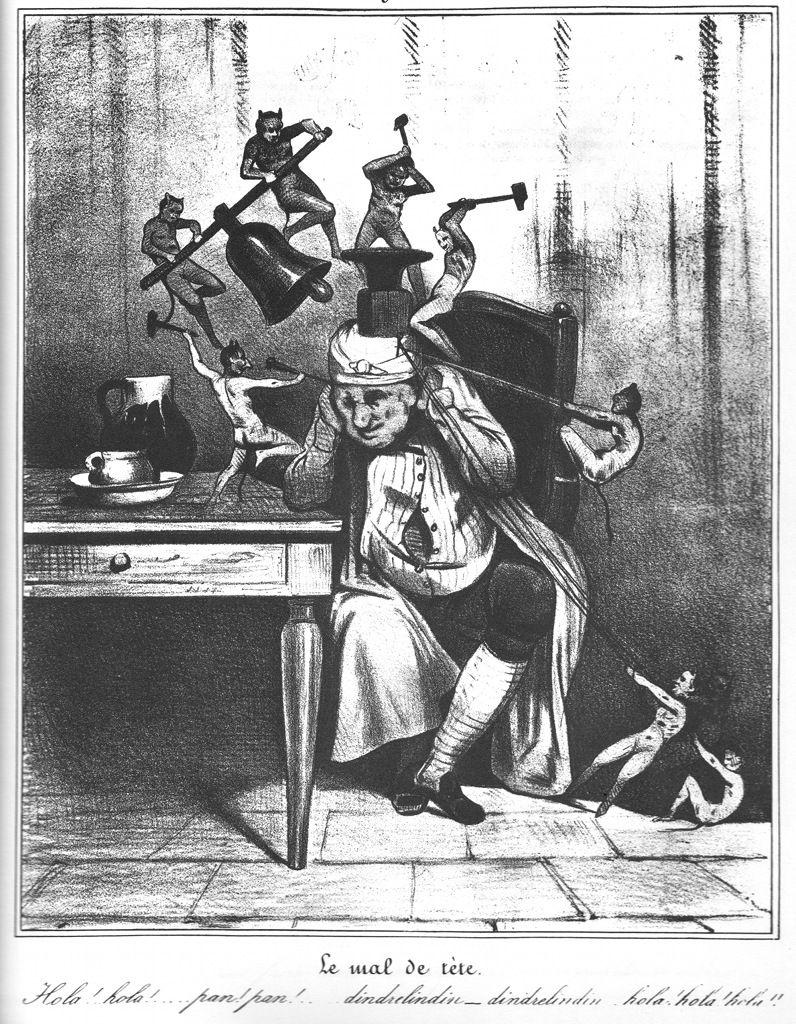 Image result for Le mal de tête, Honoré Daumier,