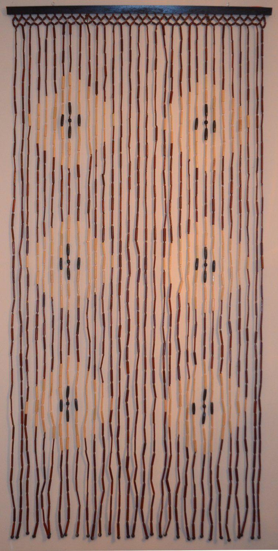 Amazon Com Natural Bamboo Amp Wood Beaded Curtain Diamond