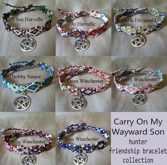 Carry On My Wayward Son Hunter Friendship Bracelet Collection