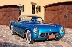 Car Featured Images - 1954 Chevrolet Corvette -183c  by Jill Reger