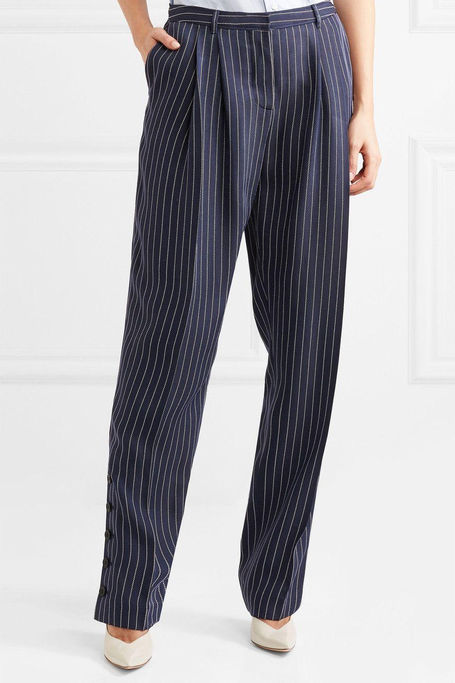 Lidig Pinstriped Ottoman Wide-leg Pants - Blue Altuzarra rWZSoZ