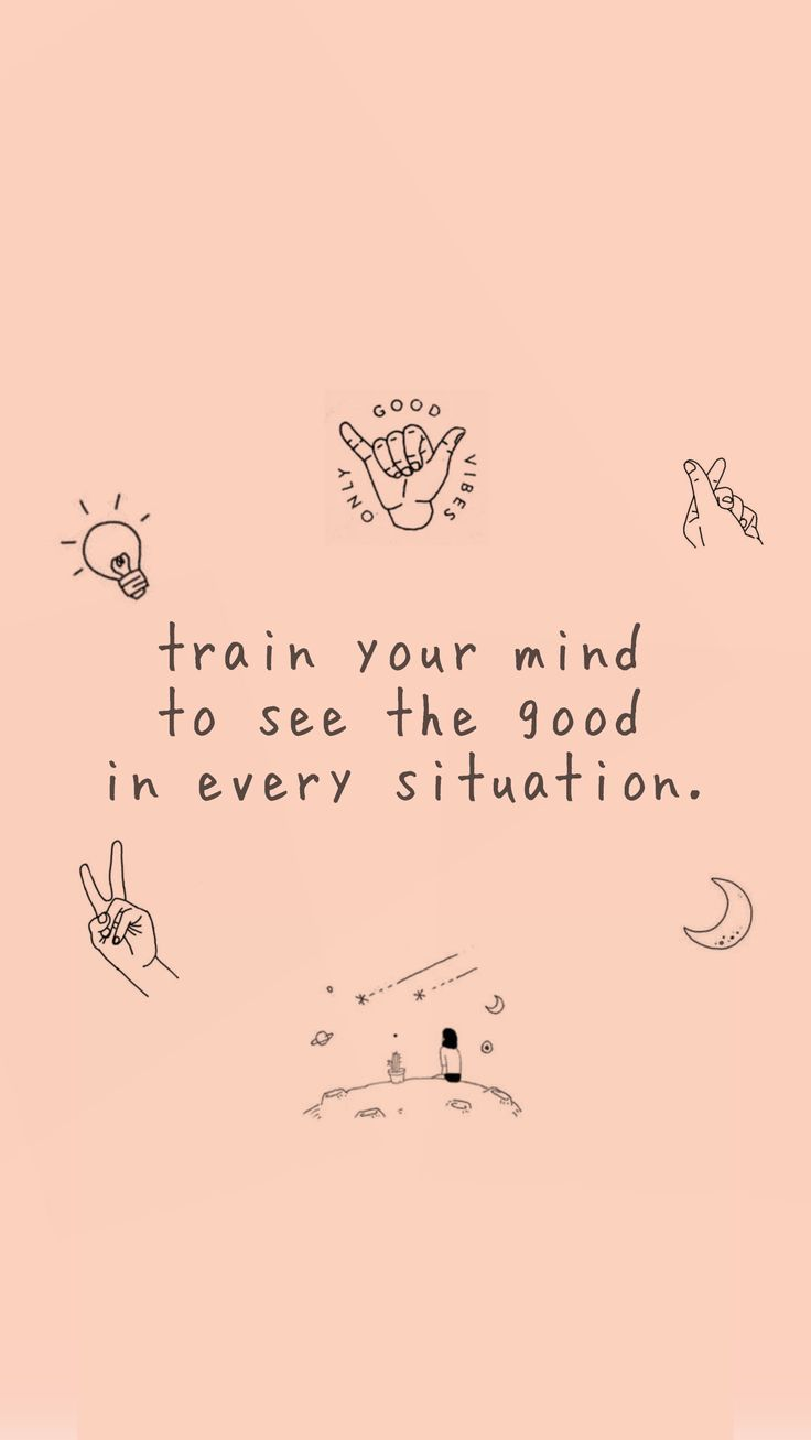 Wallpaper Iphone - Positive mind #wallpaperiphonefunny # ...