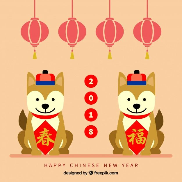 flat chinese new year background free vector httpifttt2g5wzxa