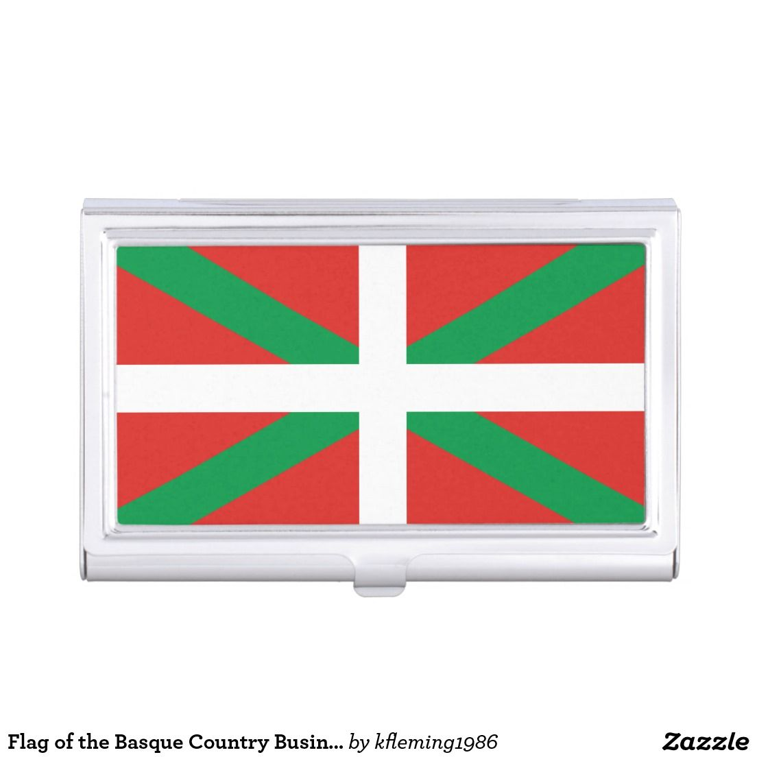 Flag of the basque country business card holder business card shop flag of the basque country business card holder created by personalize it with photos text or purchase as is reheart Choice Image