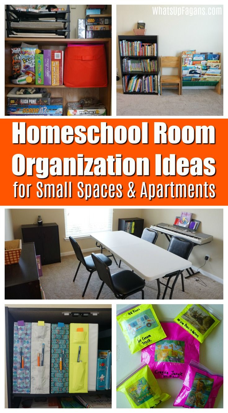 How to Organize a Small Homeschool Room (Especially If You Rent) images