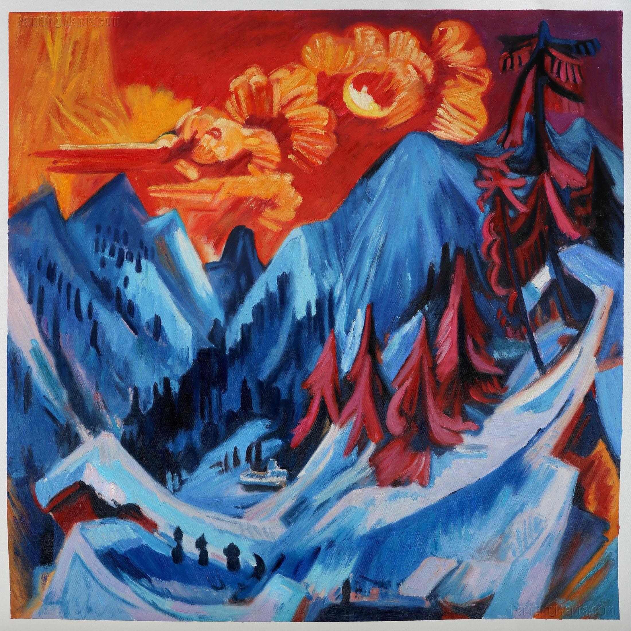 Mountain Lake Salvador Dali Reproduction Art Print A4 A3 A2 A1