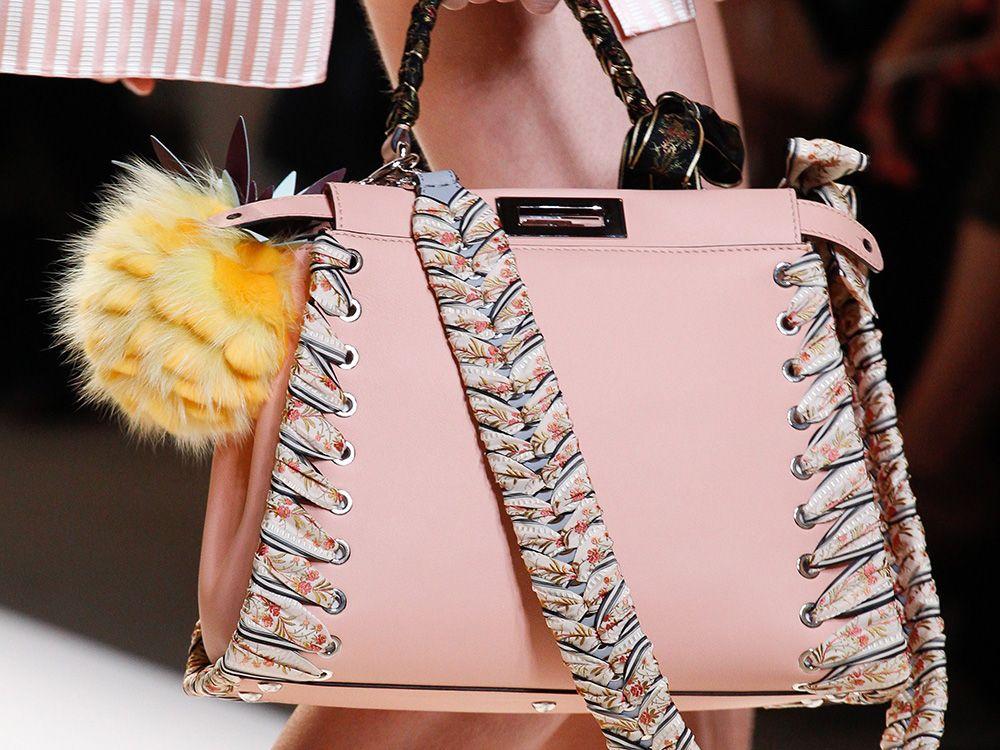 0e6e89bb3b5e Fendi's Lovely Spring 2017 Bags Bring Softness to the Brand's Abundant…  Trendy Handbags, Spring