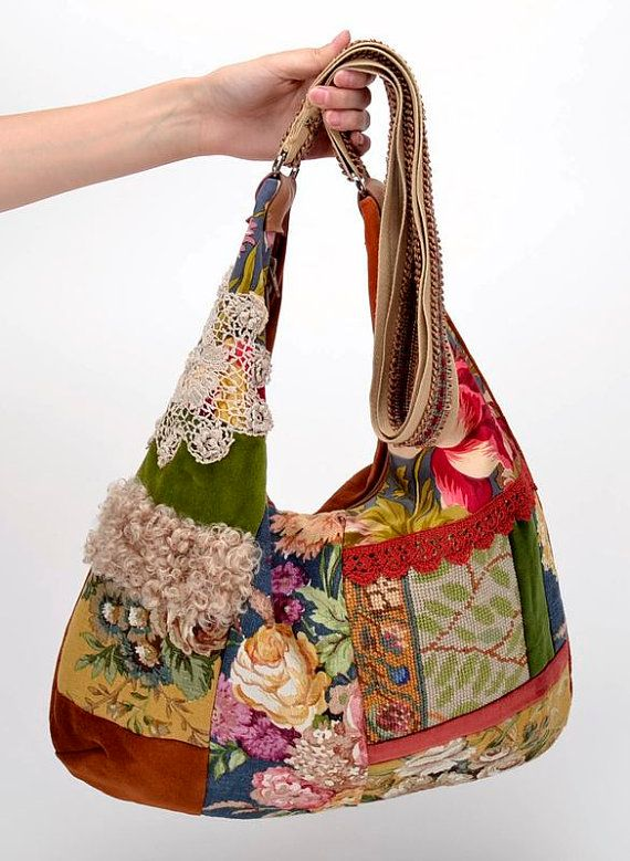 Faric patchwork bag