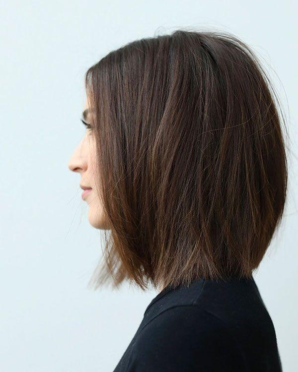 35 Beautiful Short Haircut For Straight Hair Ideas In 2019 Stylish Te Hair Styles Short Straight Hair Straight Bob Hairstyles