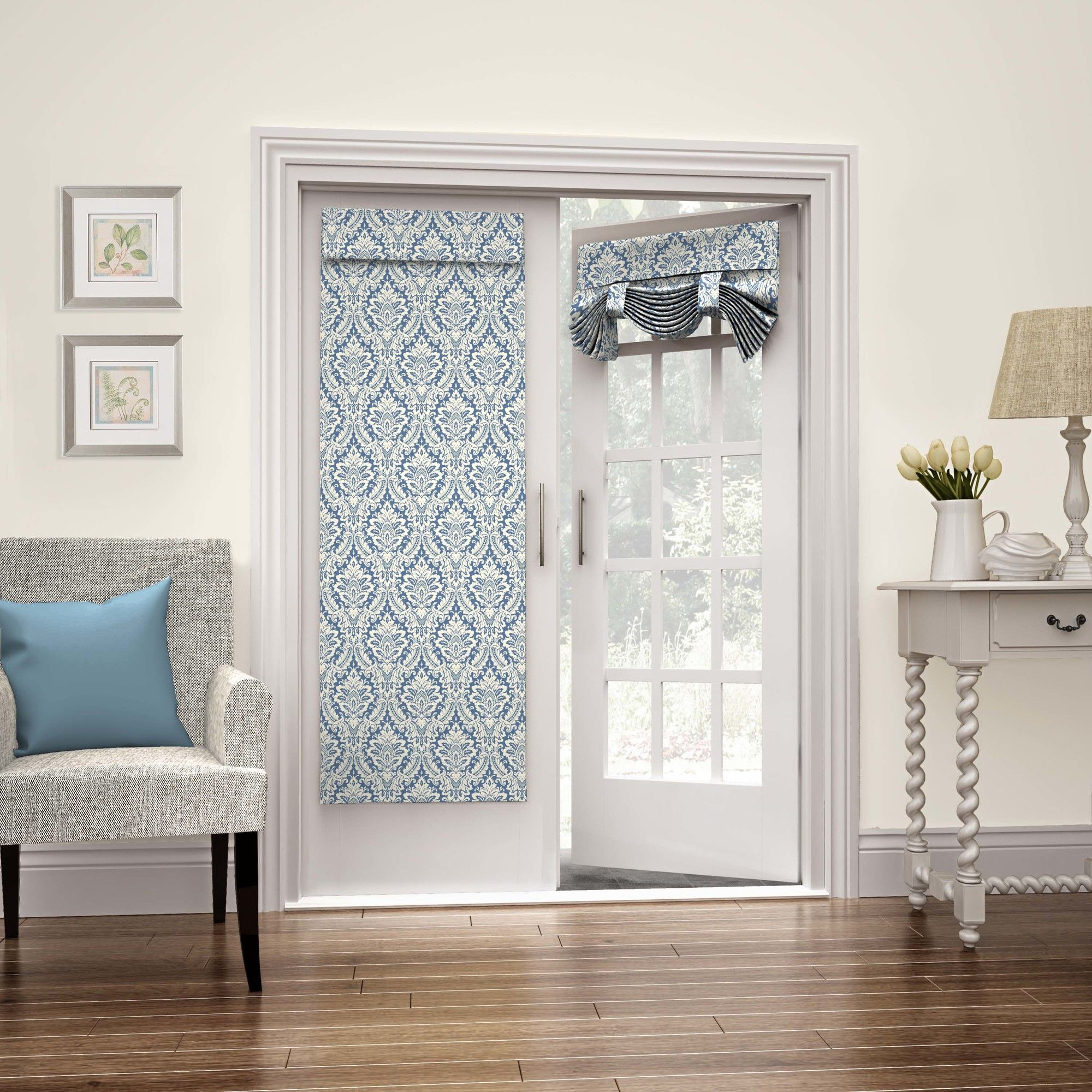 Donnington Single Curtain Panel French Doors Interior French
