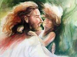 Jesus HOLDING me now ! Precious prophetic art painting. | Prophetic art, Jesus art, Jesus is life